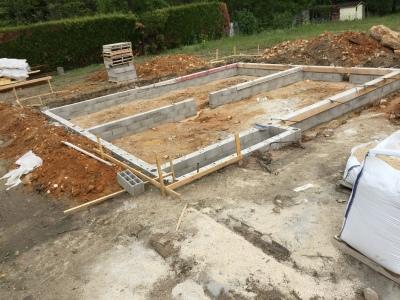 Fondations  lvation Des Murs Du Vide Sanitaire  Notre Maison Pierre